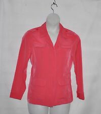 Joan Rivers Silky Safari Style Jacket with Long Sleeves Size 8 Coral