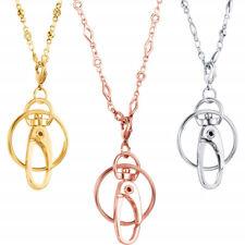 Stainless Steel Necklace Lanyard Key Keeper ID Badge Holder Lanyard Work Jewelry