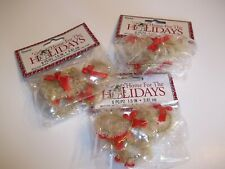 Lot Mini Christmas Sisal Bottle Brush Wreaths Dollhouse Crafts Xmas Decorations