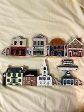 Vintage/Retired Cats Meow Village; Main Street Scene (set of 8 w/10 accessories)
