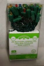 20 LED Multicolor Mini Lights Battery Operated Christmas Holiday on/off or timer