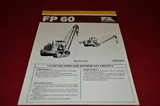 Fiat Allis Chalmers FP60 Pipelayer Dealer Brochure YABE11 ver51