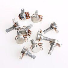 10Pcs Durable A100K OHM Audio Tone Guitar Potentiometer 16mm Base High Quality