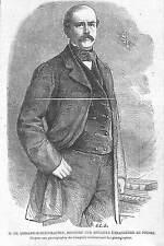 OTTO VON BISMARK GRAVURE ILLUSTRATION 1863