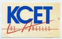 1980s Vintage unused sticker  KCET Los Angeles Television