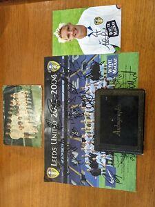 Leeds United Autograph Billy Bremner,John Charles,Johnny Giles,Mick Jones others