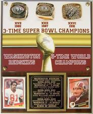 Washington Redskins 3-Time Super Bowl Champions Photo Card Plaque Rings of Honor