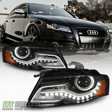 2009-2012 Audi A4 S4 B8 [Halogen Model] LED DRL Projector Headlights Headlamps