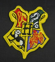 HARRY POTTER HOGWARTS CREST EMBROIDERED IRON SEW ON SCHOOL BADGE PATCH EMBLEM