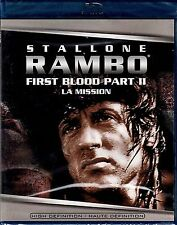 NEW BLU-RAY // RAMBO  // FIRST BLOOD PART 2 //  Sylvester Stallone, Richard Cren
