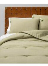Solid Cotton Gauze Tasseled Comforter/sham / Sheet Set Twin Xl Sage Green