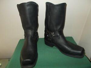 Mens 11 1/2 EE Harness /Engineer Motorcycle Work Cowboy Boot USA Black DH4008