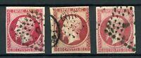 Frankreich 3 verschiedene MiNr. 16 gestempelt Napoleon (H311