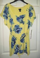 New $36 Yellow Floral Oh Baby by Motherhood Maternity Top XL (1618)