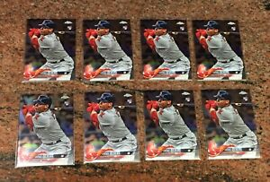 8x RAFAEL DEVERS 2018 Topps Chrome Rookie With 1 RC Refractor Boston Red Sox Lot
