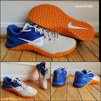 Nike Metcon 4 Training Shoes BV1636-002 Men's Sizes 10/10.5/11 Blue Orange Squat