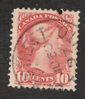 #45  - Canada - 1897 -  10 Cent - Used  - VF -  superfleas