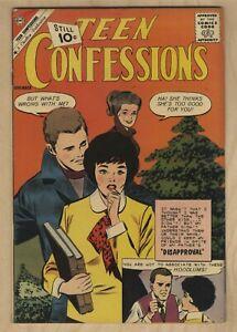 TEEN CONFESSIONS #14 1961 CHARLTON ROMANCE 💐HOODLUMS FN+