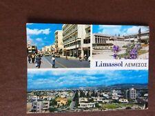 F1e postcard used limassol cyprus views