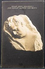 Der Schlaf Alfred von Bary Skulptur Doussin Oper Bühne Foto Autogramm-AK (Y-1545