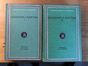 DIOGENES LAERTIUS 1 and 2 (Hicks) Loeb Classical Library - Greek & English