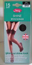Super Shine Gloss Stockings by Silky. 15 Denier. One Size. Black