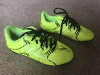 Adidas 15.4 Yellow & Black Football Boots Moulded Studs Uk Infant Size 12