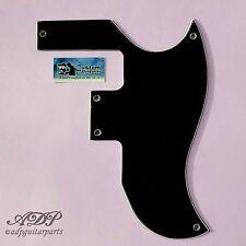 PICKGUARD NOIR P90 VINTAGE 60s GIBSON SG SPECIAL US HalfFace Black 3ply WD 5803