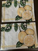 Set Of 2 Lemon Tapestry Placemats