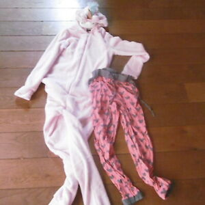 Einhorn rosa Pyjamateil Schlafanzug 34 Pyjamahose Mickey Mouse xs