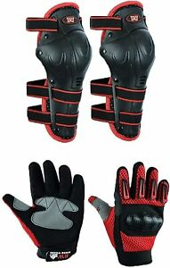 Kids Motocross Gloves Hard Knuckle Protective Safety Rider Gloves with Knee Pads