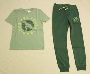 H&M Boy's Dinos Are Forever Graphic T-Shirt & Sweats Set MP7 Turquoise US:8-10Y