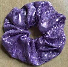 Un Viola Shimmer Tessuto Elastico per Capelli Fascia Coda di Cavallo / con Pon
