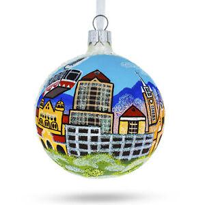 Albuquerque, New Mexico Glass Christmas Ornament