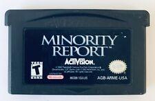 Minority Report: Everybody Runs Nintendo Game Boy Advance 2002 Gameboy Gba Sp Ds