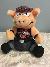 "Harley Davidson Stuffed Plush Biker Hog Toy Pig Play by Play Bandana 9"""