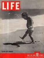 1945 Life July 30 - DPs stream across Europe; Louvre art returns; Kamikaze;Songs