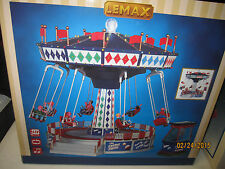 "Train Village House "" Carnival Animated Cosmic Swing Ride "" + Dept 56/Lemax info"