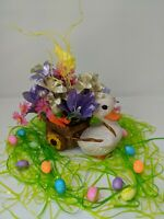 🐰Easter Basket Arrangement 🦆 Pull'n Flower Cart With Bunny, Eggs And Carrots🥕