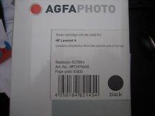 ORIGINAL AGFA TONER hp 92298 NEW PRODUCT PACKAGING Capacity 6800pages Laserjet 4