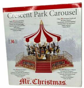 New Mr Christmas Crescent Park Carousel Plays 30 Christmas Songs 2006