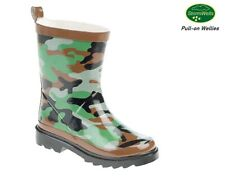 Wellies Boys Kids welly Boots CAMOUFLAGE Print Size 4 5 6 7 8 9 10 11 12 13 1 2