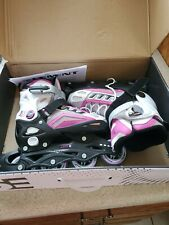 Girls 5th Element Adjustable Inline Roller Blades size 2 to 4.5