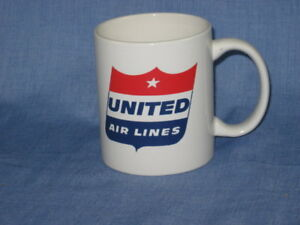 UNITED AIRLINES Coffee Cup Mug Airlines A&P  Jet Pilot Aircraft Airways Fleet