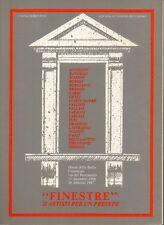 'Finestre' 21 artisti per un presepe Unione Fiorentina Firenze 1986