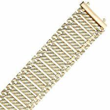 "14k Yellow Gold Diamond-cut Figaro Link Bracelet 7.5"""