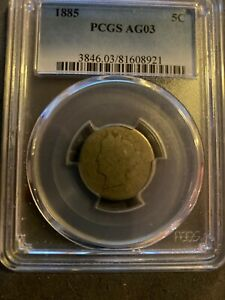 1885 Liberty Nickel AG3 PCGS Certified