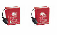 ** NEW ** Power Wheels 6 Volt Battery (2 Batteries) Two Batteries 00801-0712 6V