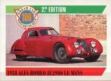 1938 Alfa Romeo 8C2900 Le Mans, Dream Cars Trading Card, Auto --- Not Postcard