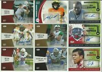 2016 2017 2018 Sage Hit Football Auto 9 Card Lot College